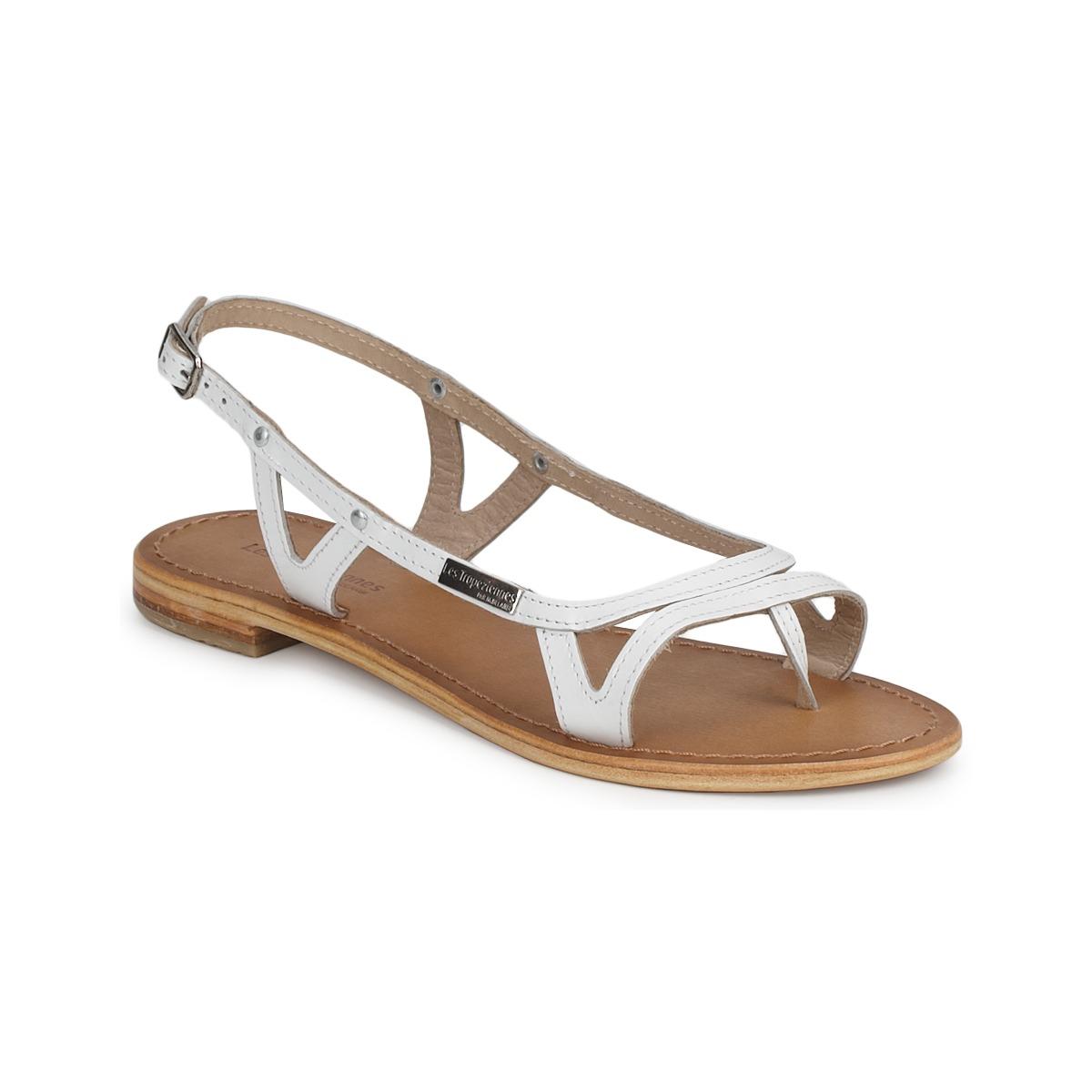 sandale les trop ziennes par m belarbi isatis blanc chaussure pas cher avec. Black Bedroom Furniture Sets. Home Design Ideas