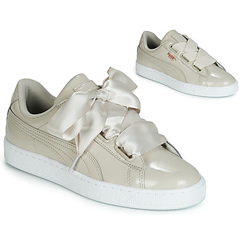 Chaussures Femme Baskets basses Puma WN BASKET HEART PATENT.GRA Beige