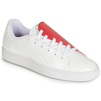 Chaussures Femme Baskets basses Puma WN BASKET CRUSH.WH-HIBISCU Blanc