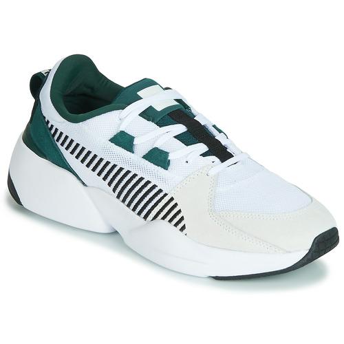 8d63110c502 Chaussures Homme Baskets basses Puma ZETA SUEDE.WHITE-PONDEROSA Blanc