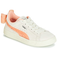 Chaussures Fille Baskets basses Puma PS SUEDE BOW JELLY AC.WHIS Beige