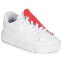 Chaussures Fille Baskets basses Puma INF B CRUSH PATENT AC.W-H Blanc