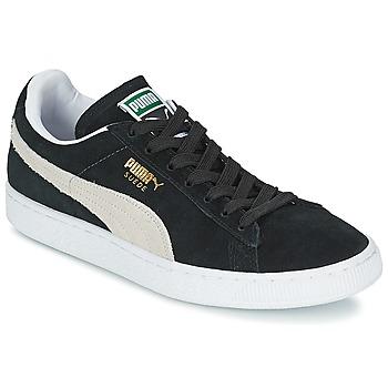 Chaussures Baskets basses Puma SUEDE CLASSIC Noir / Blanc