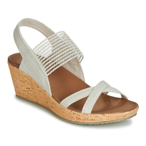 Chaussures Femme Sandales et Nu-pieds Skechers BEVERLEE Beige
