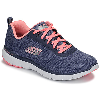 Chaussures Femme Fitness / Training Skechers FLEX APPEAL 3.0 Marine / Rose