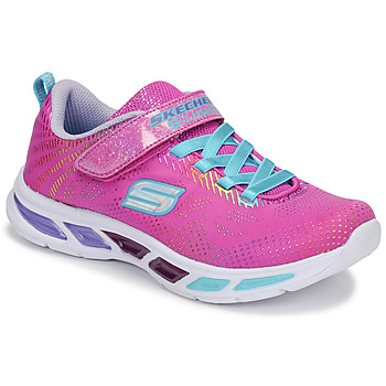 Chaussures Fille Baskets basses Skechers LITEBEAMS Rose