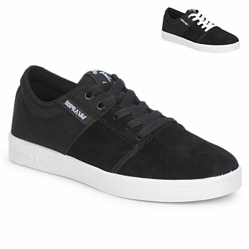 Chaussures Baskets basses Supra STACKS II Noir / Blanc