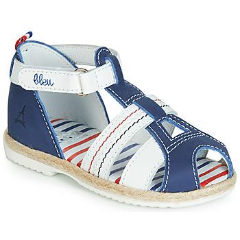 Chaussures Enfant Sandales et Nu-pieds GBB COCORIKOO Marine / Blanc