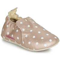 Chaussures Fille Chaussons Catimini CARA VTE ROSE OR-FLEUR DPF/SOUPLE