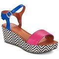 Chaussures Femme Sandales et Nu-pieds Betty London EDOUVOLE Fuchsia / Bleu