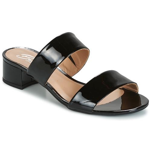 Chaussures Femme Mules Betty London BAMALEA Noir verni