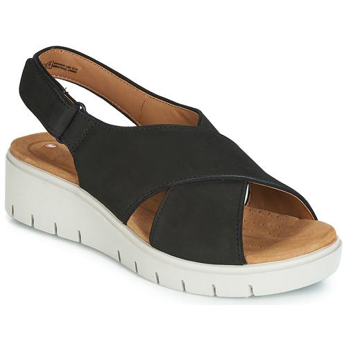 Chaussures Femme Sandales et Nu-pieds Clarks UN KARELY SUN Noir