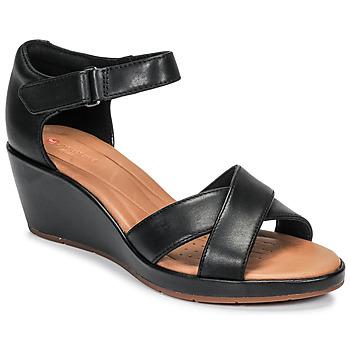 Chaussures Femme Sandales et Nu-pieds Clarks UN PLAZA CROSS Noir