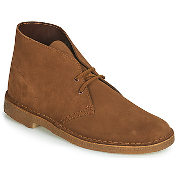 Chaussures Homme Boots Clarks Desert BootUK Cola Suede