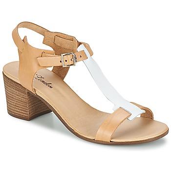 Sandale Betty London GANTOMI Camel / Blanc