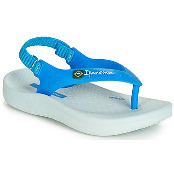 Chaussures Enfant Sandales et Nu-pieds Ipanema ANATOMIC SOFT BABY Bleu / Blanc
