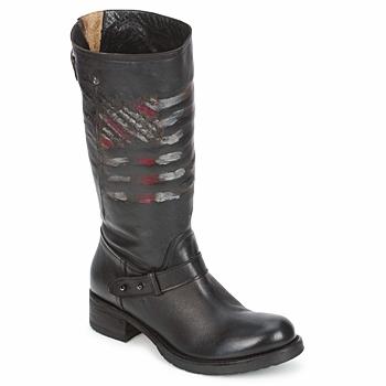 Chaussures Femme Boots Strategia ENRO Noir imprimé drapeau
