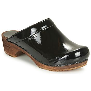 Chaussures Femme Sabots Sanita CLASSIC PATENT Noir