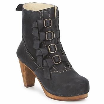 Chaussures Femme Bottines Sanita ELM CONE Noir