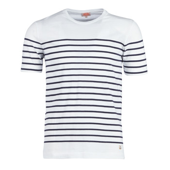 Vêtements Homme T-shirts manches courtes Armor Lux ETEL Blanc / Marine