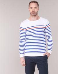 Vêtements Homme T-shirts manches longues Armor Lux YAYAYOUT Blanc / Bleu / Rouge