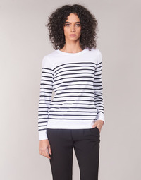 Vêtements Femme T-shirts manches longues Armor Lux YARIL Blanc / Marine