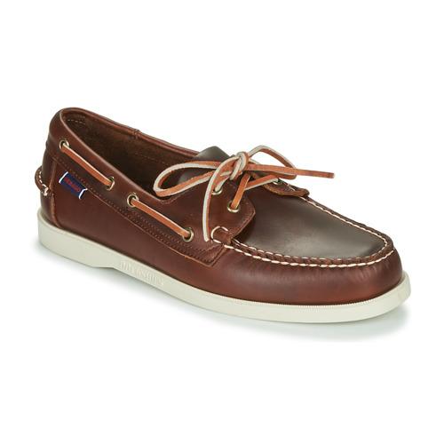 Chaussures Homme Chaussures bateau Sebago DOCKSIDES PORTLAND WAXED Marron