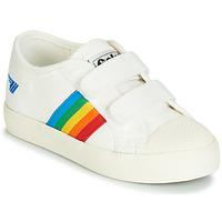 Chaussures Fille Baskets basses Gola COASTER RAINBOW VELCRO Blanc