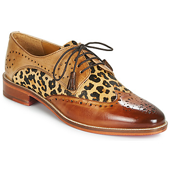 Chaussures Femme Derbies Melvin & Hamilton BETTY-4 Marron / Léopard