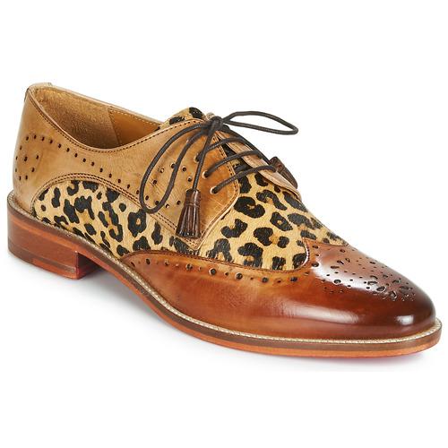 Chaussures Femme Derbies Melvin & Hamilton BETTY-4 Marron / Léopard