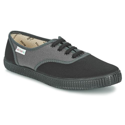 Chaussures Baskets basses Victoria INGLESA BICOLOR Anthracite