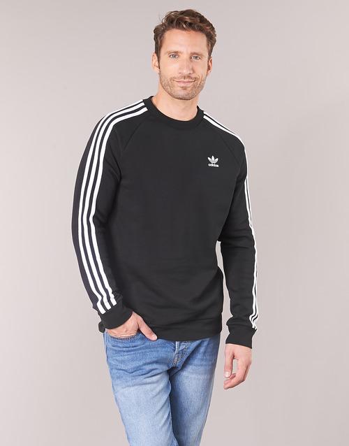 Vêtements Homme Sweats adidas Originals 3 STRIPES CREW Noir