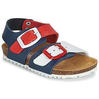 Chaussures Enfant Sandales et Nu-pieds Garvalin BIO  BOY Marine / Rouge / Blanc