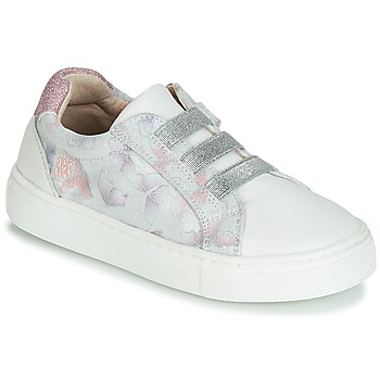Chaussures Fille Baskets basses Garvalin STAR Blanc / Argenté / Rose