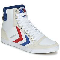 Chaussures Baskets montantes Hummel TEN STAR HIGH CANVAS Blanc / Bleu / Rouge