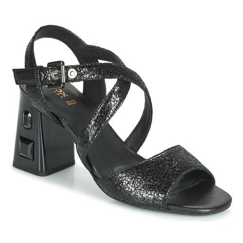 Chaussures Femme Sandales et Nu-pieds Geox D SEYLA S. HIGH PLUS Noir