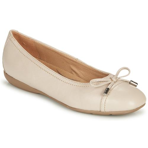 Chaussures Femme Ballerines / babies Geox D ANNYTAH Taupe