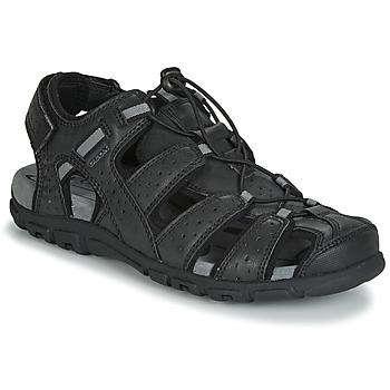 Chaussures Homme Sandales et Nu-pieds Geox UOMO SANDAL STRADA Noir