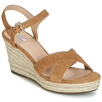 Chaussures Femme Sandales et Nu-pieds Geox D SOLEIL Camel