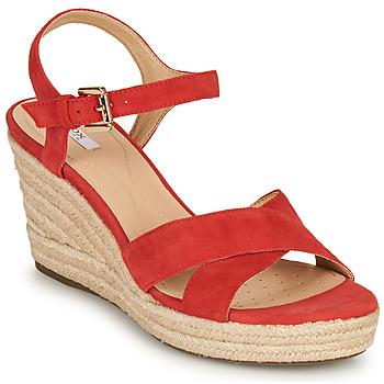 Chaussures Femme Sandales et Nu-pieds Geox D SOLEIL Rouge Corail