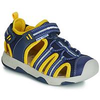 Chaussures Garçon Sandales et Nu-pieds Geox B SANDAL MULTY BOY Bleu / Jaune
