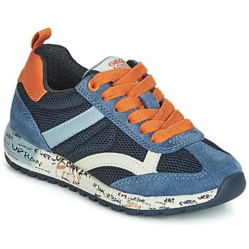 Chaussures Garçon Baskets basses Geox J ALBEN BOY Marine / Orange