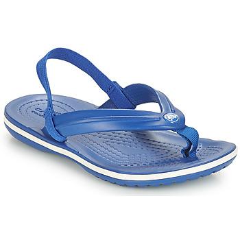 Chaussures Enfant Sandales et Nu-pieds Crocs CROCBAND STRAP FLIP K Bleu
