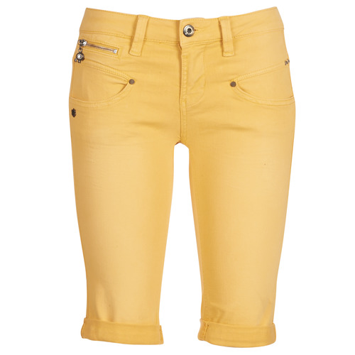 Vêtements Femme Shorts / Bermudas Freeman T.Porter Belixa New Magic Color Jaune