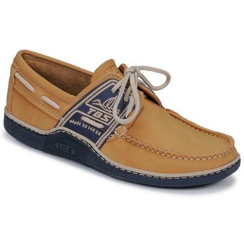 Chaussures Homme Chaussures bateau TBS GLOBEK Jaune / Marine