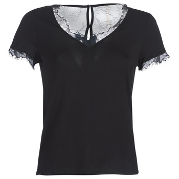 Vêtements Femme T-shirts manches courtes Morgan DMINOL Noir