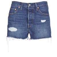 Vêtements Femme Shorts / Bermudas Levi's 502 HIGH RISE SHORT Bleu Medium
