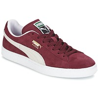 Chaussures Baskets basses Puma SUEDE CLASSIC Rouge / Blanc