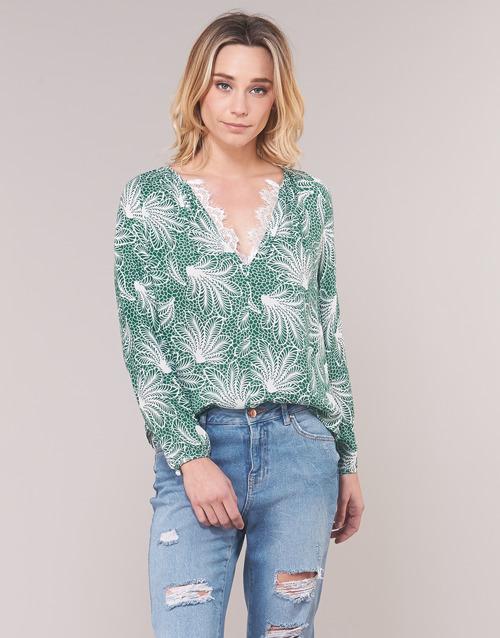 Vêtements Femme Tops / Blouses See U Soon GARAGAVE Vert / Blanc