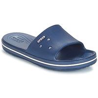 Chaussures Claquettes Crocs CROCBAND III SLIDE Marine / Blanc